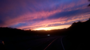 Sunset over the Ventura Highway.